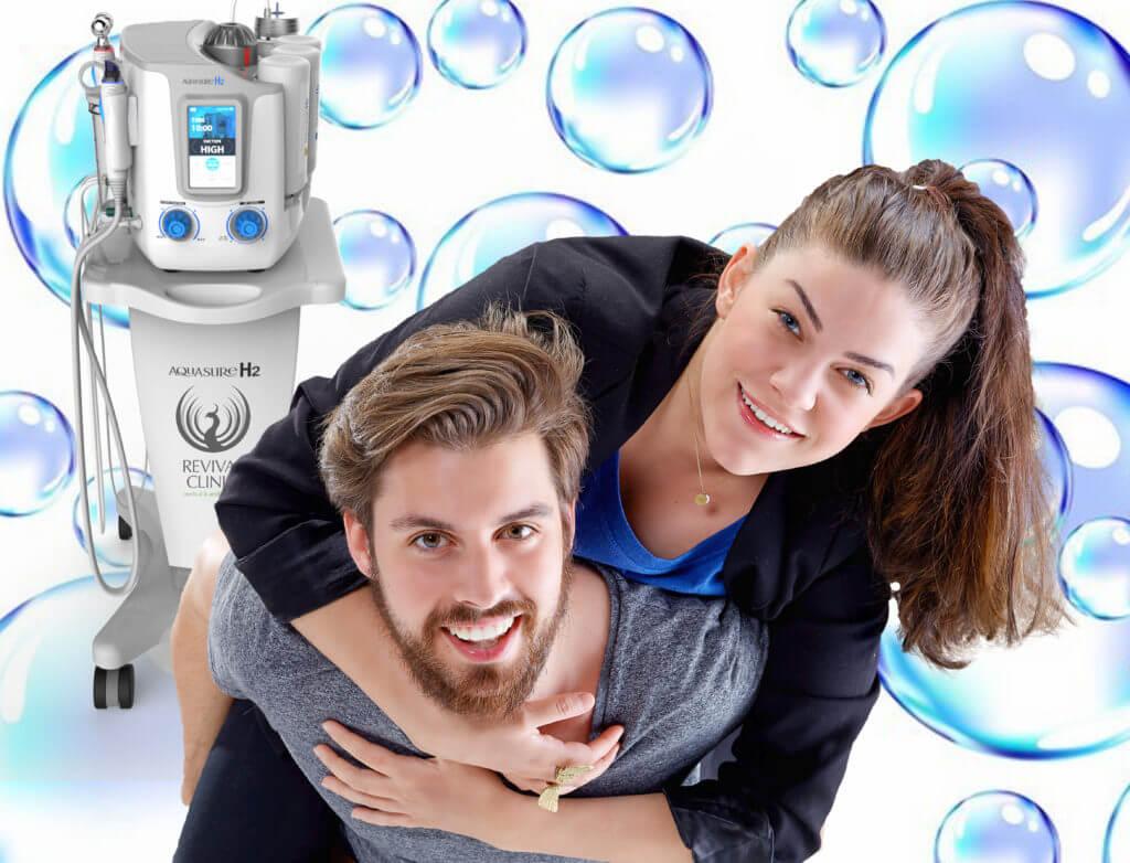 oczyszczanie wodorowe twarzy dla kobiety i mężczyzny