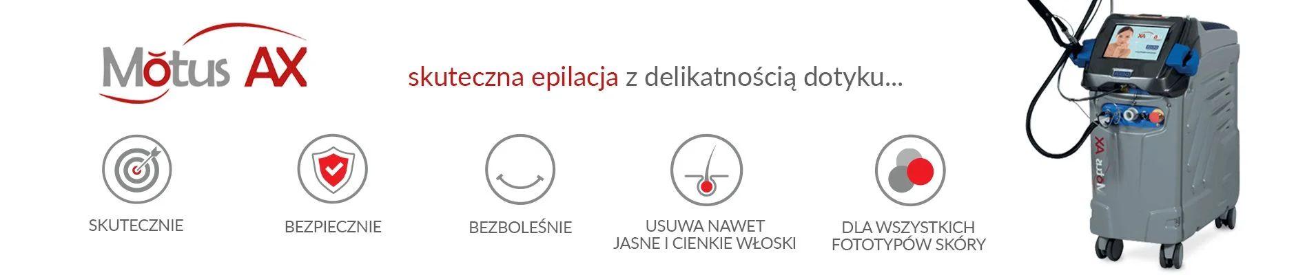 Depilacja laserowa Warszawa laser Motus AX Revival Clinic Wilanów